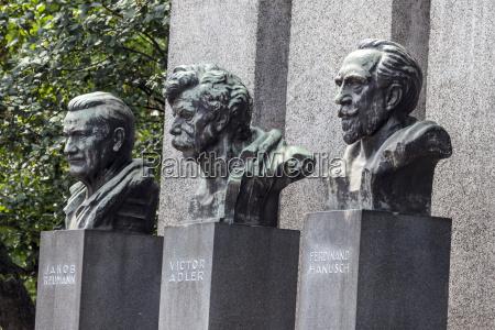 austria vienna three busts of famous