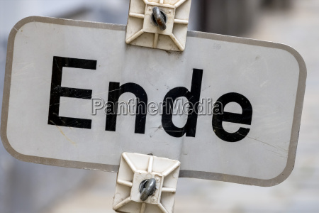 sign end