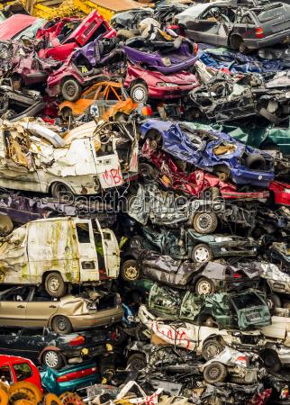 scrap yard scrap cars