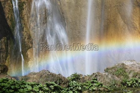 croatia karlovac rainbow at veliki slap