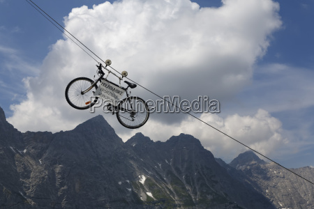 austria tyrol view of mountain bike