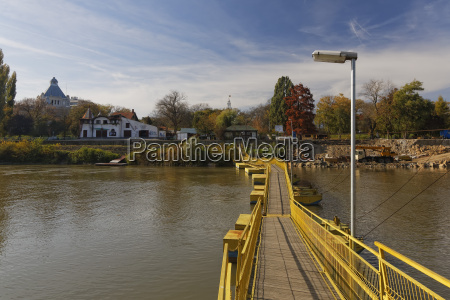 rumania crisana arad footbridge above mures
