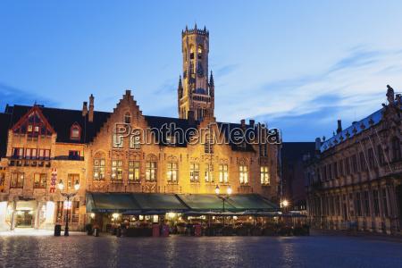 belgium bruges view of historic medival