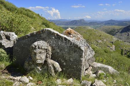 turkey antalya province pisidia antique sarcophagus