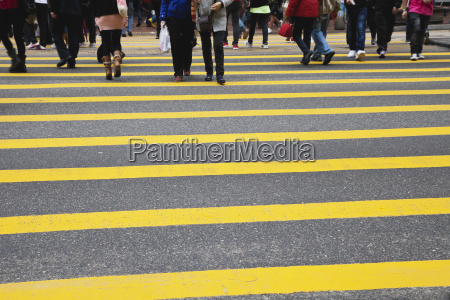china hongkong view of pedestrian crossing