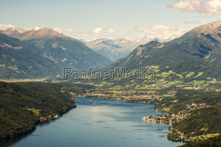 austria carinthia view of millstatter see
