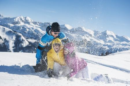 austria salzburg young man and women