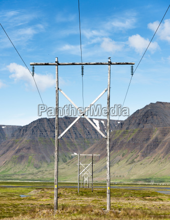 iceland sudureyri view of electric power