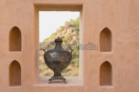 india rajasthan tin bowl on window