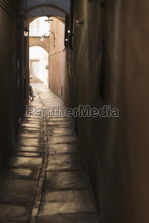 italy south tyrol bolzano narrow alley