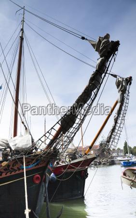 netherlands ijsselmeer muiden sailing ships in