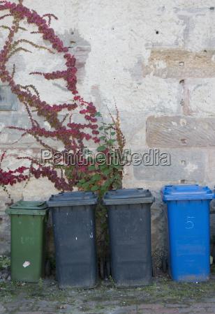 germany fuerth backyard dustbins