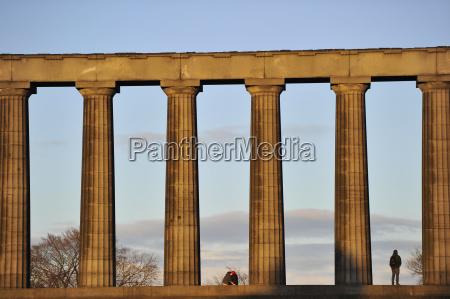 uk scotland edinburgh national monument of