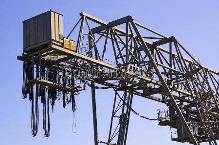 germany old gantry crane against clear
