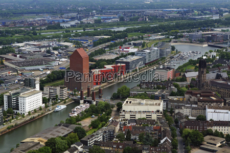germany duisburg view of harbour in