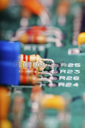 germany electronic components close up