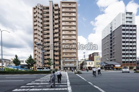 japan kyoto japanese architecture pedestrian crossing