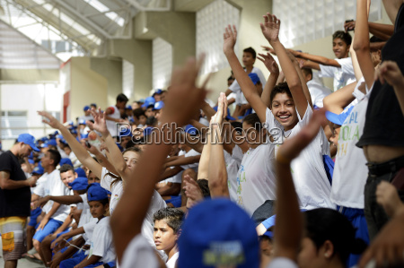 brazil fortaleza young people at football