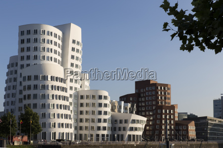 germany duesseldorf view of gehry house