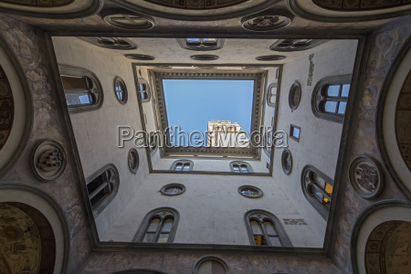 italy florence facades of courtyard of