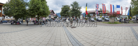 germany bavaria oberstdorf panoramic view from
