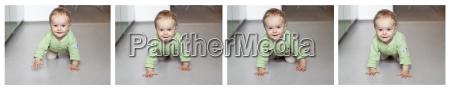 germania kiel bambina che striscia