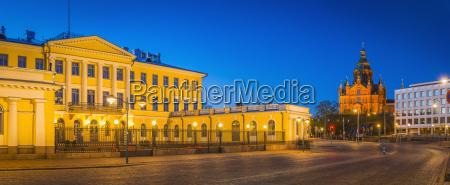 finland helsinki presidential palace and uspenski