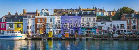united kingdom dorset weymouth colourful harbour