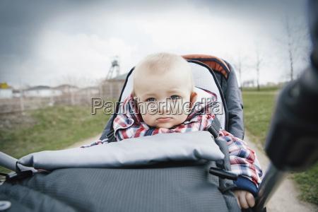 germany oberhausen blond baby boy sitting