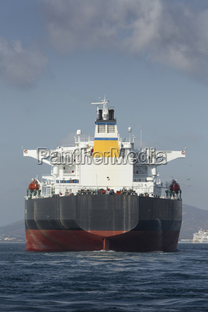 gibraltar oil tanker on the mediterranean