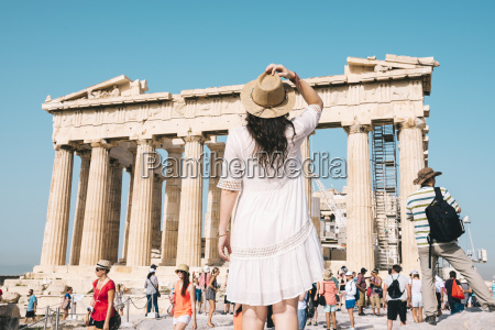 greece athens people visiting the parthenon
