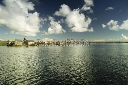 south america peru puno swimming island