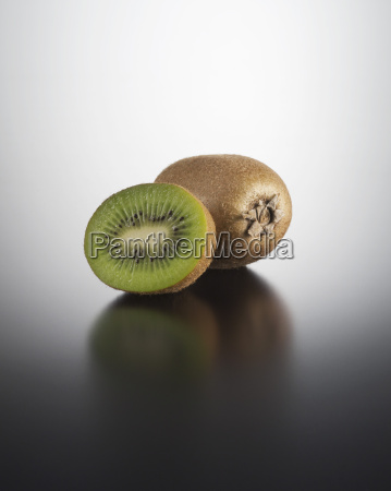 kiwi on coloured background close up