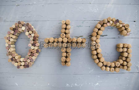 corks in shape of letters
