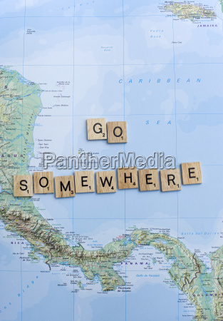 map and letters go somewhere