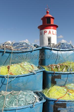 france, , bretagne, , landeda, , lighthouse, and, boxes - 21089981