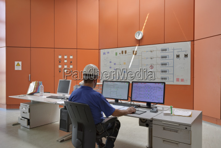 germany man working in control center