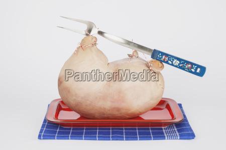 palatine stuffed pigs stomach on tray