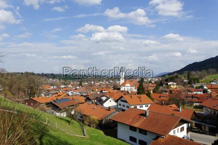 germany bavaria view of nesselwang
