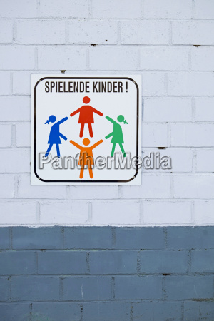 germany aachen sign playing children
