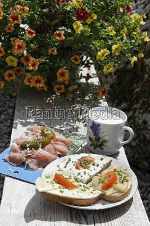 germany bavaria bavarian cold snack at
