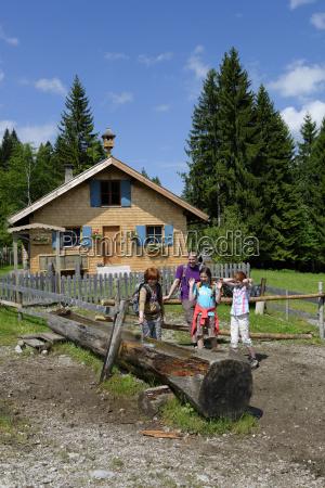 germany bavaria familiy hiking and playing