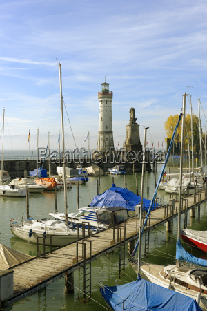 germany bavaria swabia lake constance harbor