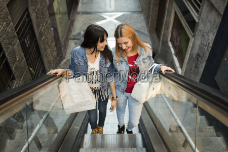 spain jaen two young women on
