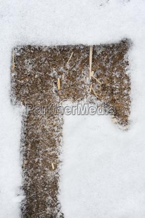 imprint of an axe on a