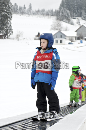 germany eschach boy in ski school