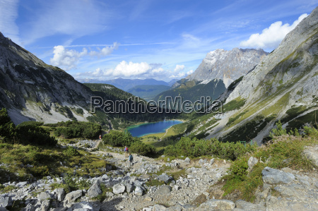 austria tyrol view of seebensee lake