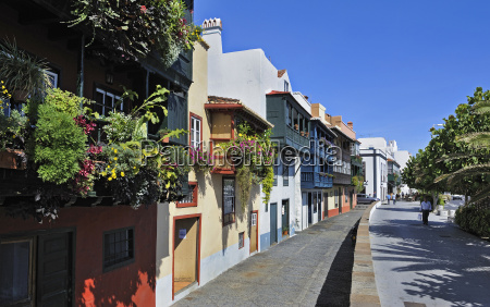 spain canary islands view of historic