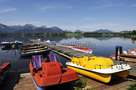 germany, , bavaria, , view, of, lake, hopfensee - 21094187