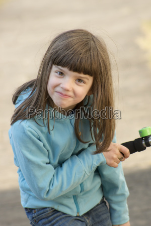 germany tuebingen girl holding handle of